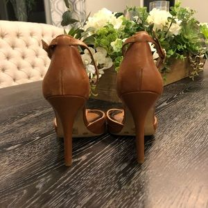Jessica Simpson Shoes - Jessica Simpson Brown Leather Heels 8.5